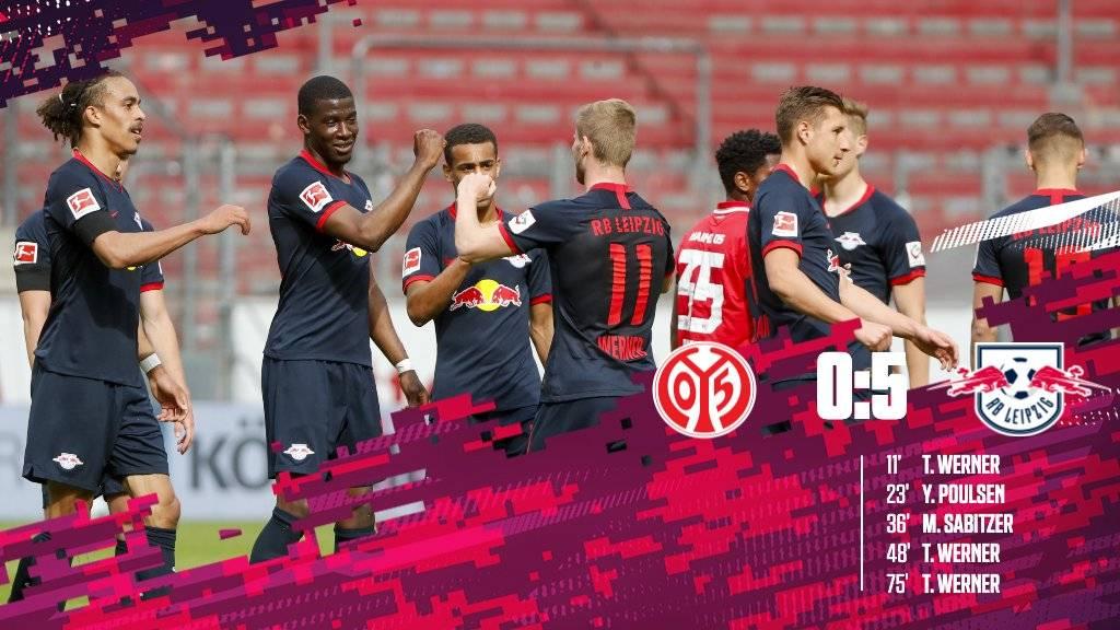 德甲-维尔纳戴帽萨比策波尔森相互传射 莱比锡5-0