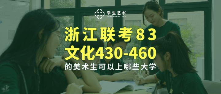 浙江联考83、文化430-460的美术生,可以上哪些大学?