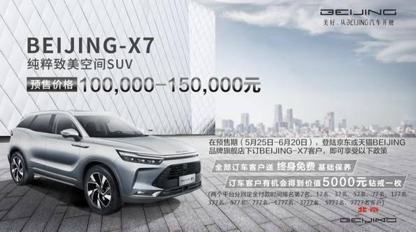 """有一款高档的BEIJING-X7叫""""purer"""",预售价格10-15万"""