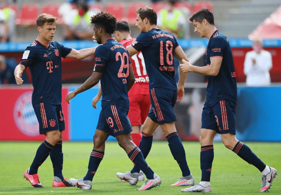 半场-格雷茨卡传射科曼破门 拜仁客场3-1勒沃库森