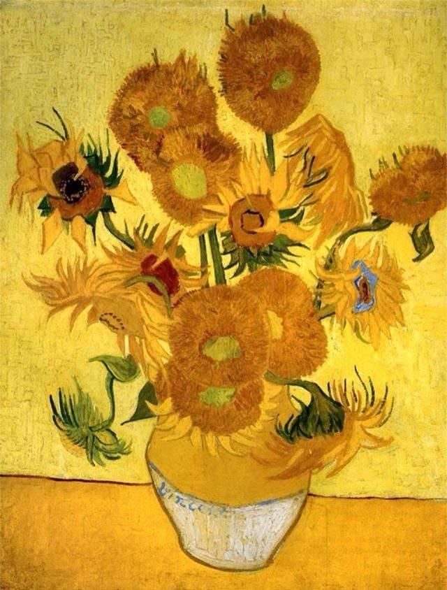 丞诣艺术讲述梵高油画向日葵作品欣赏