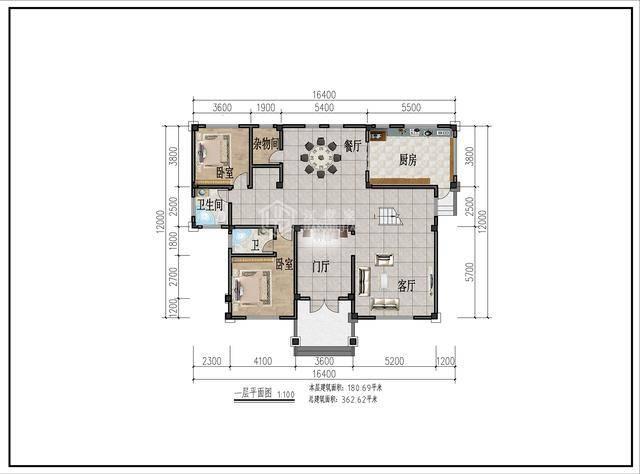 2层新中式别墅平面图