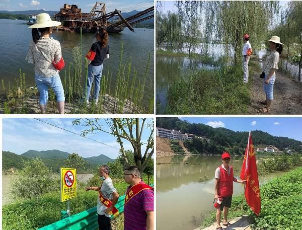 英山县委文明办教育局联合开展暑期防溺水宣传志愿服务活动