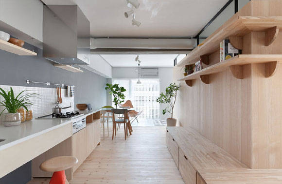 日式风格家居设计,简约大方真舒服,结合工业风元素,效果很特别!