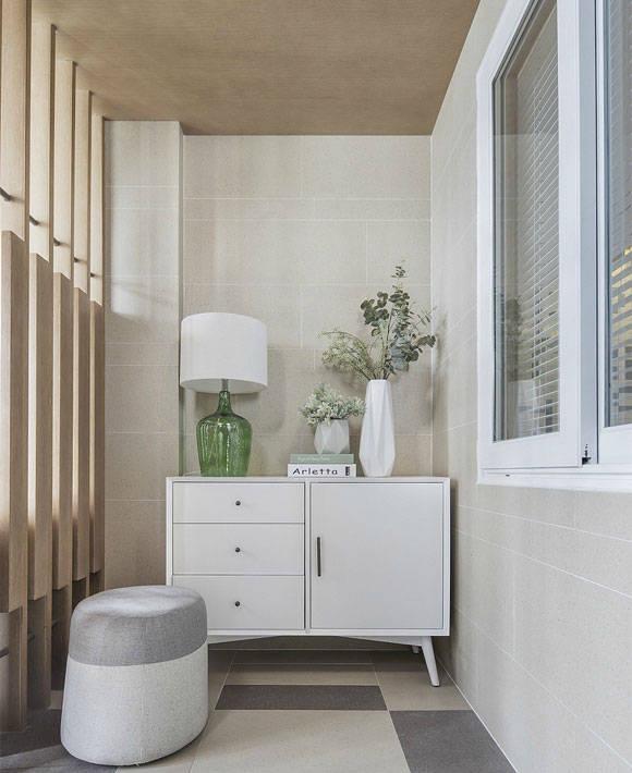 现代风格两房装修设计,清爽干净的小户型空间,面积不大却很实用