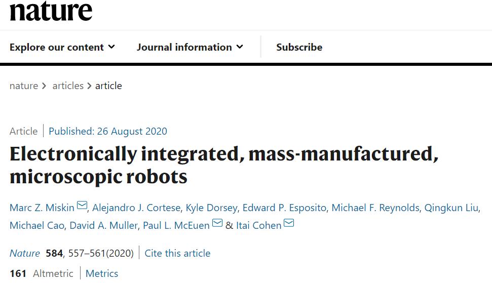 永磁无刷电机生产厂家,可行走、可注射入人体、尺寸小于0.1mm的四脚机器人问世_控制