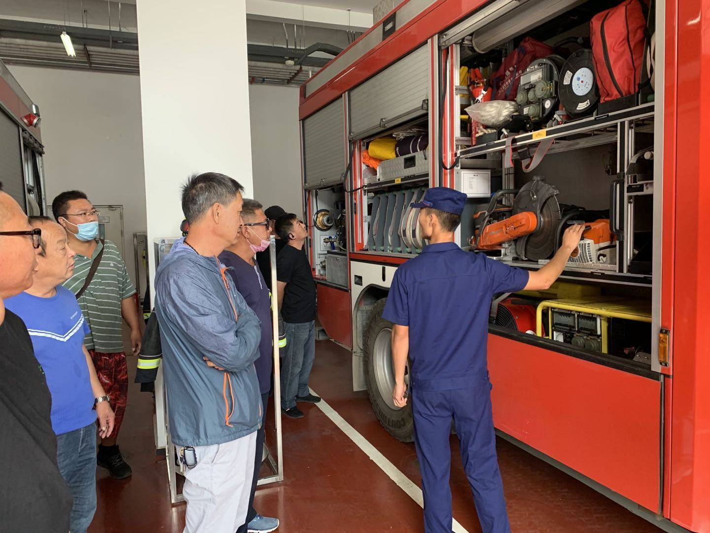 孙村消防站举办辖区内小型消防站拉练