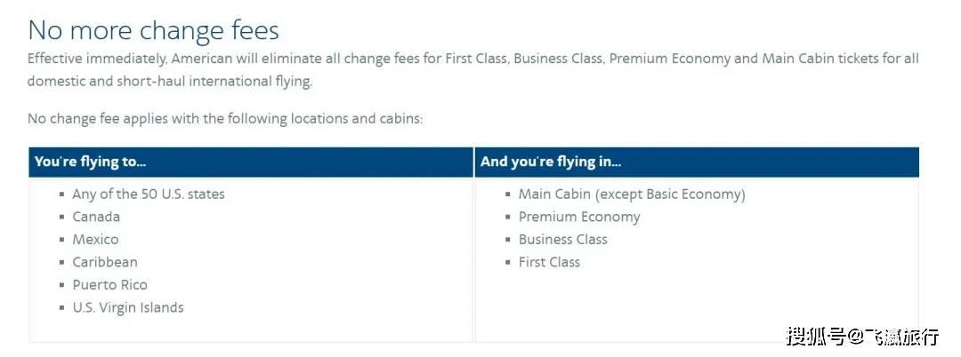 最新!美三大航永久性取消国内航班改签费用