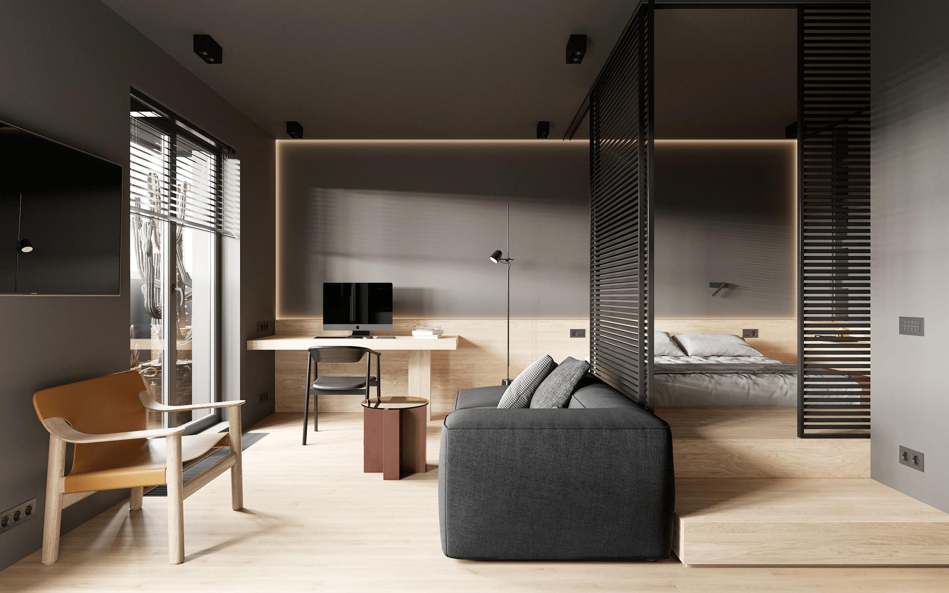 38.4平方米的单人公寓太舒适了,爱辽爱辽