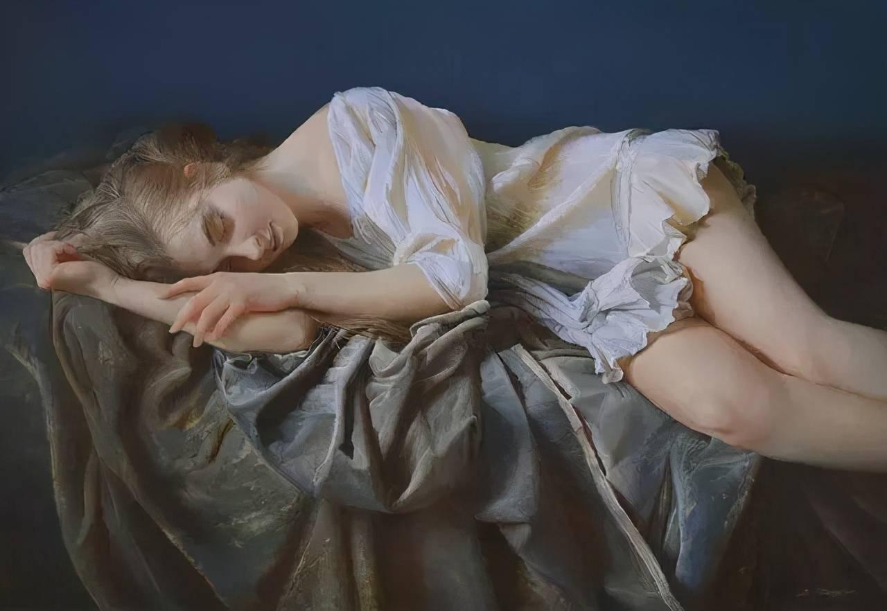 一組超性感的俄羅斯人體油畫作品,每一幅都讓人欲罷不能