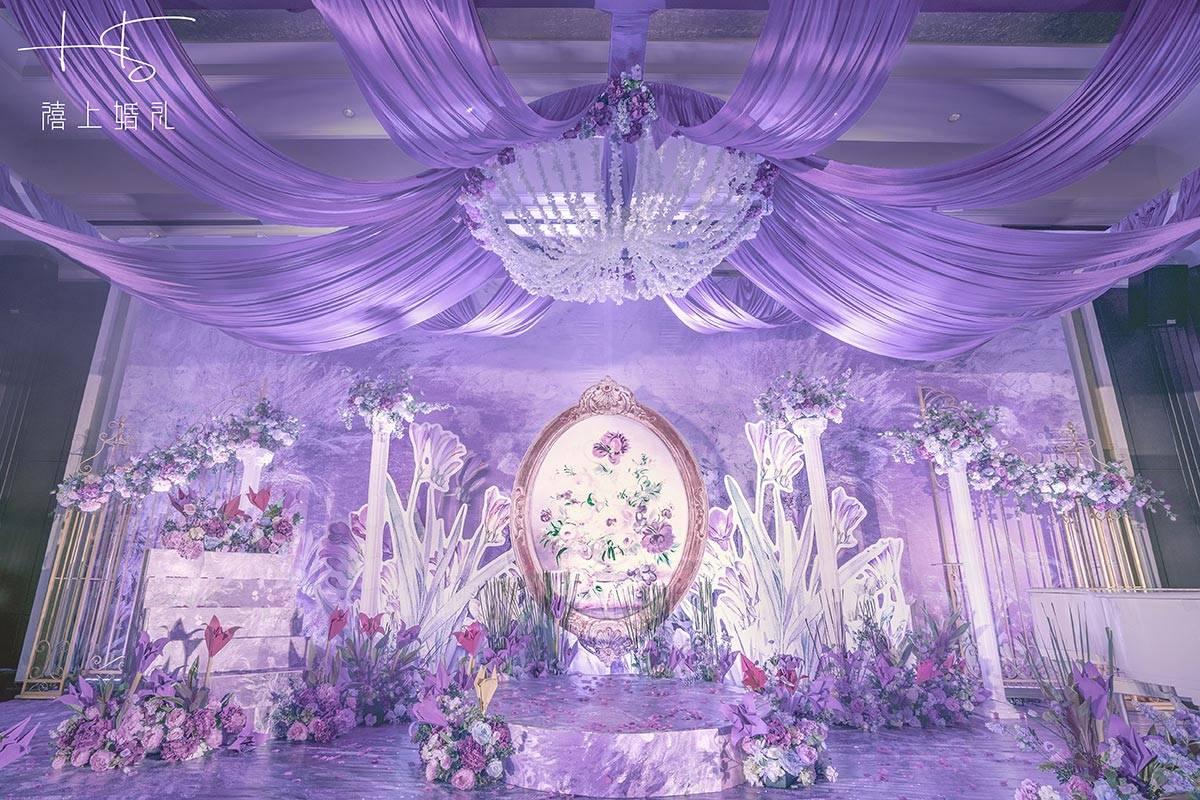 谁说紫色系婚礼就是又土又俗,看看仙气