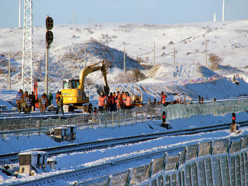 吉通铁路首站电气化扩建改造工程开工