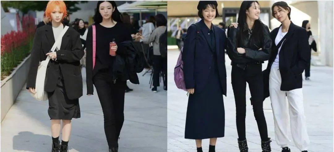 时髦好看的秋冬闺蜜造型怎么搭?不妨参考下首尔街头的潮妹搭配吧