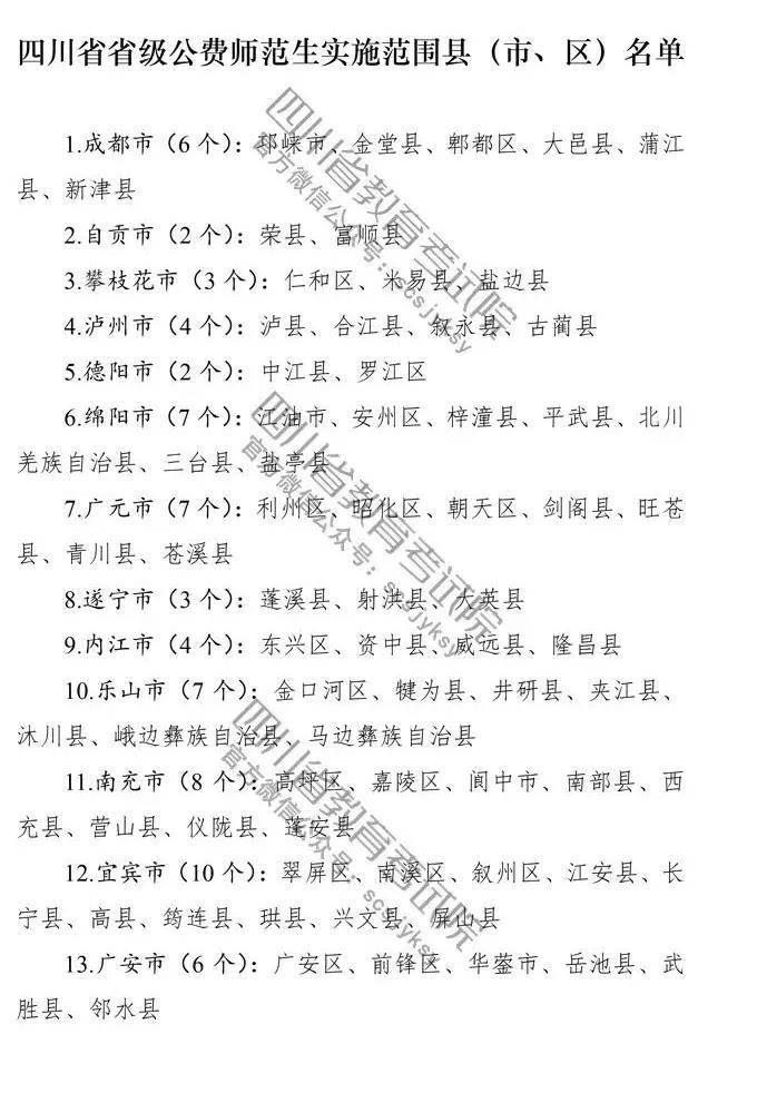 四川省属公费师范生哪些人可以报?有哪些学校招收公费师范生?