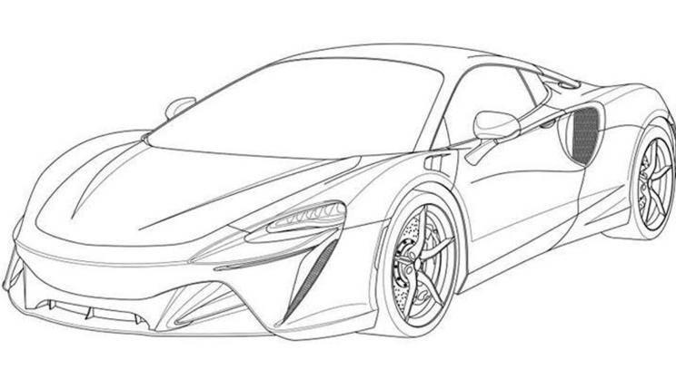 最初的迈凯轮混合动力跑车的专利地图配有一个新的V6发动机,可以纯电动驾驶