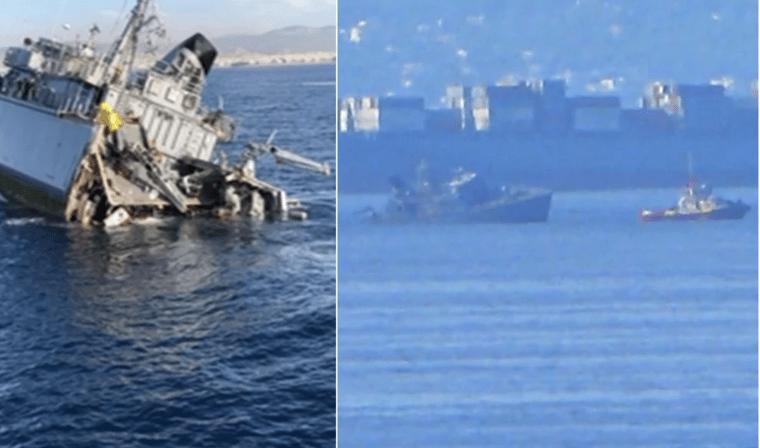 突发!又一艘军舰撞上商船,直接断成两截
