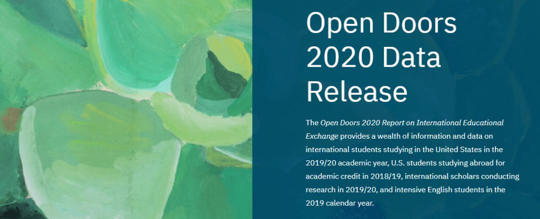 最新!《2020美国门户开放报告》发布,在美国际生人数13年来首次下降!