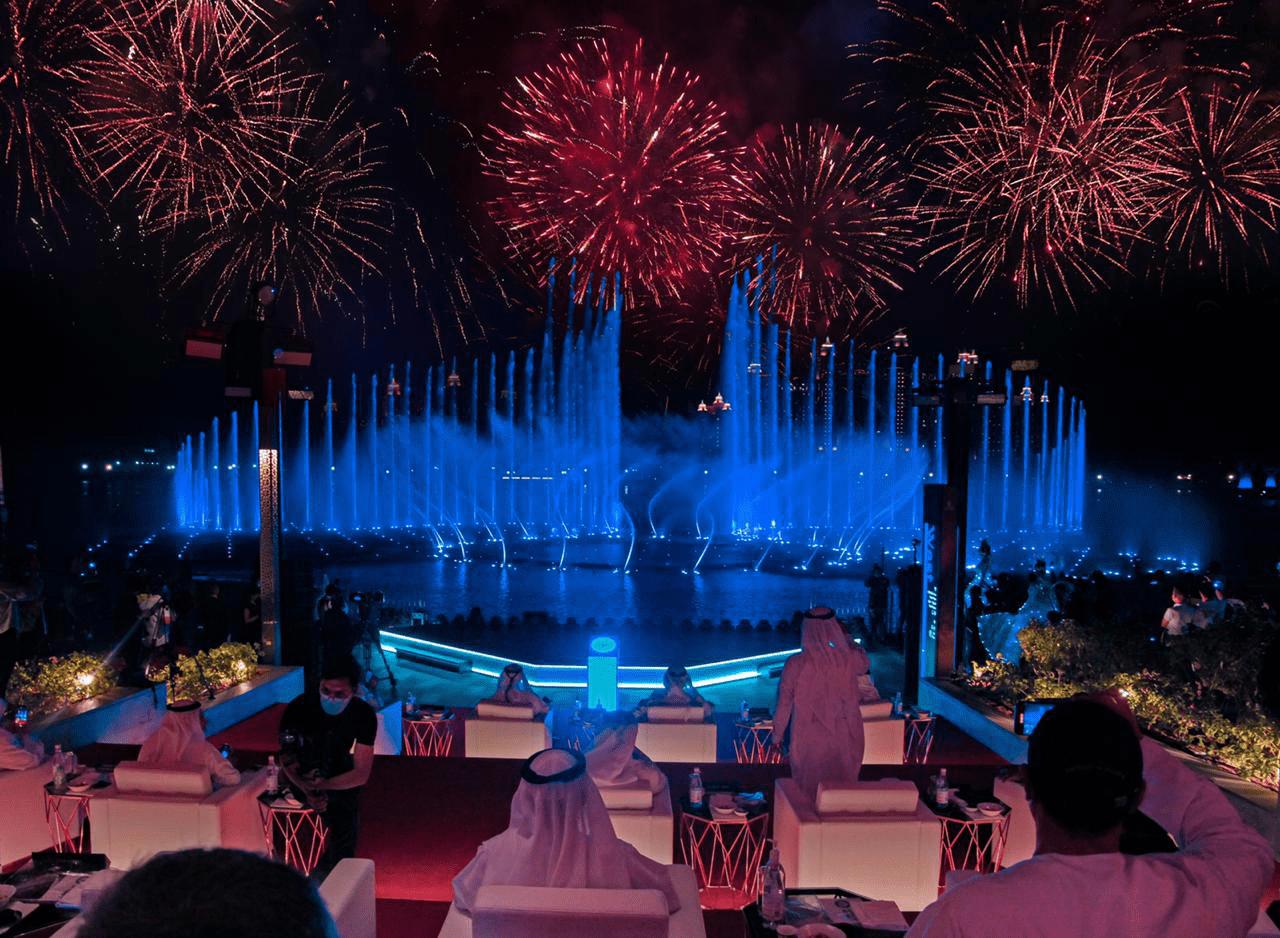 """创""""最美音乐喷泉"""",迪拜棕榈岛音乐喷泉破吉尼斯记录"""