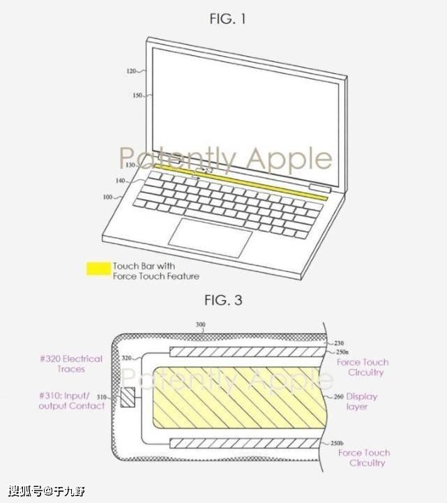 """原创             苹果最新专利曝光:MacBook内置的""""触控列""""将有特异技能"""