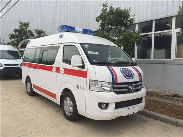 福田G7救护车厂家直销价格短轴中顶负压救护车推广报价