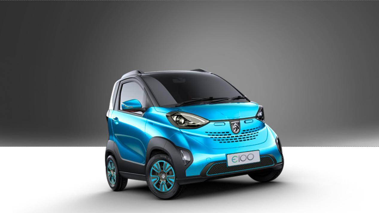 本来比Smart简洁。国产新能源微型车宝骏E100只能作为交通工具使用吗