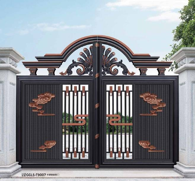 中式铝艺大门