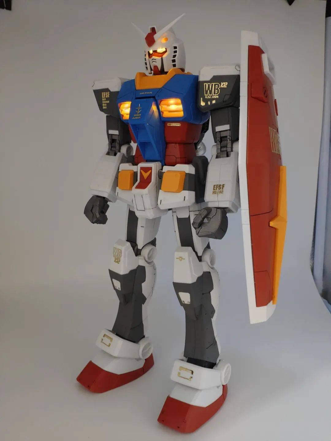 【欣赏】玩法大,巨型RX-78 1/48亮