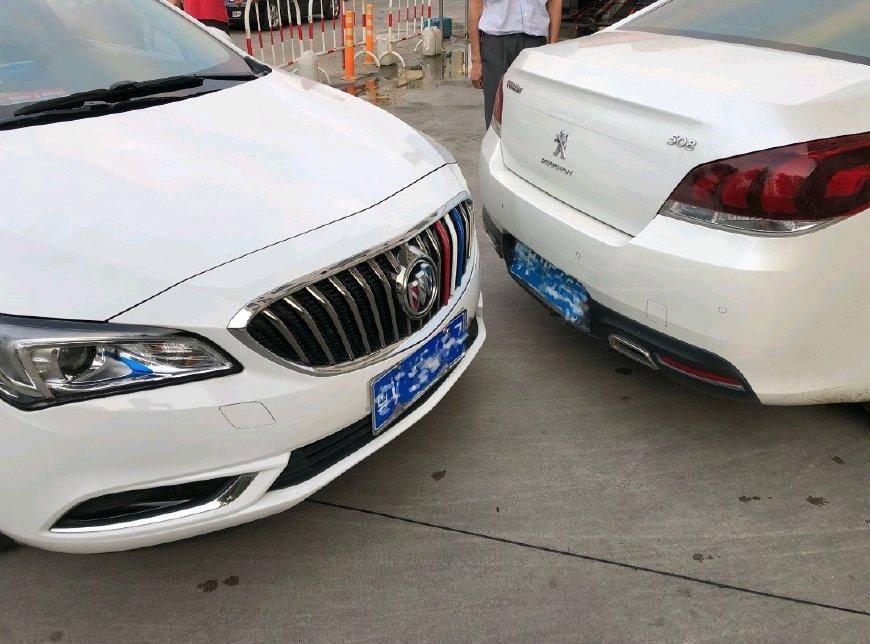 原别克朗威被标致508撞了,看车况。车主:我想把车修好后卖掉