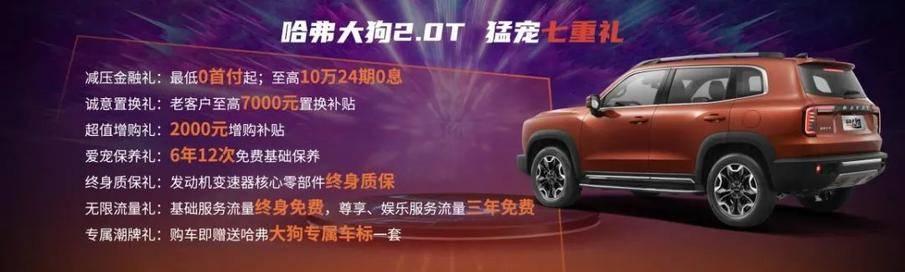 原装哈弗大狗2.0T四驱版!中国园林狗的价格是15.59万元