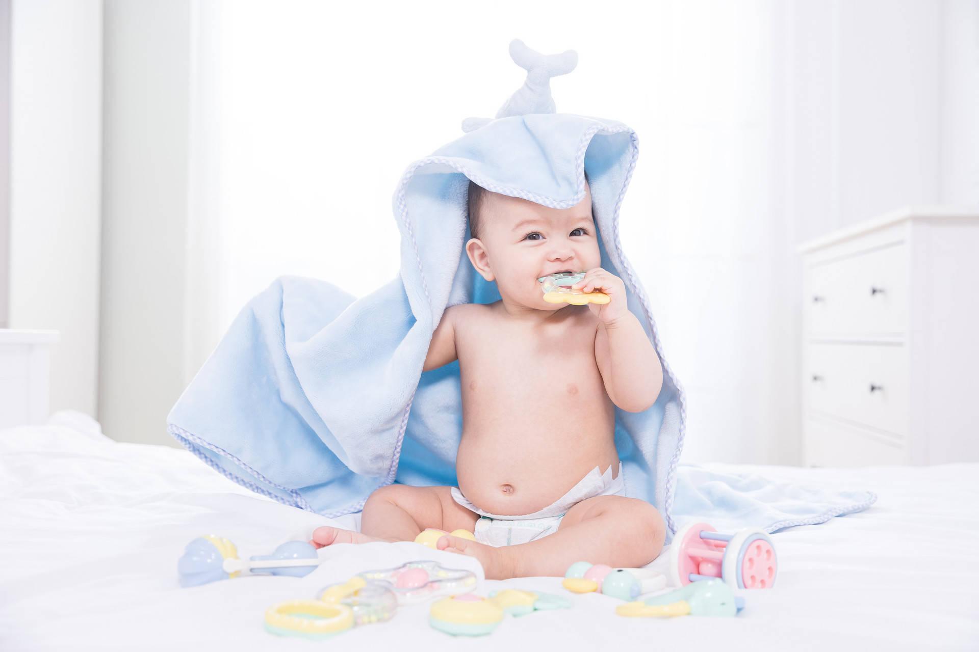 """五个月宝宝开始认生,经历多个""""第一次"""",妈妈用游戏促进娃成长  第3张"""