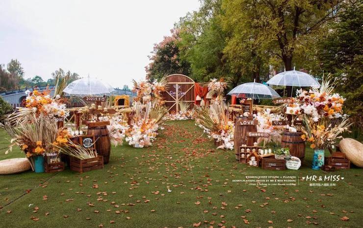 自然、怀旧的美式风格婚礼,满足你对于回归自然的向往