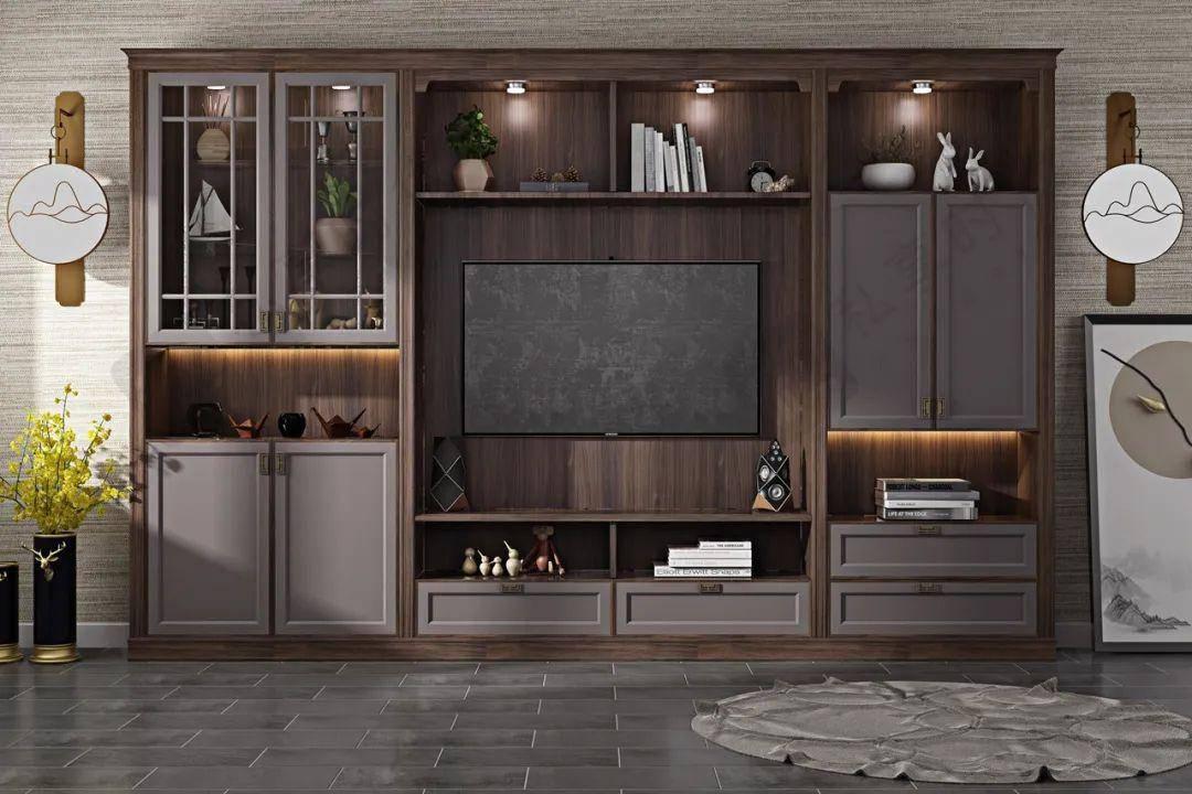 电视柜这样设计,让你家客厅收纳力十足!