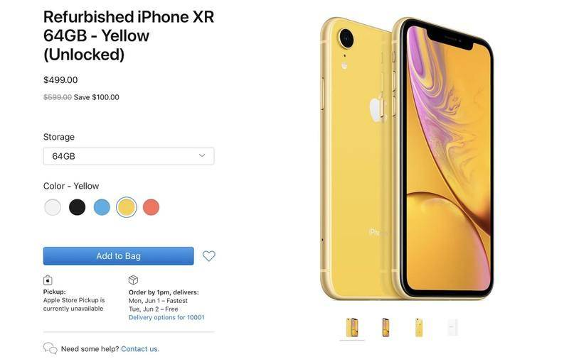 iPhone XR官方翻新机来了!可惜国内买不到?