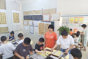 溧阳蒋雪莲书画教育:用爱心关爱残疾家庭子女