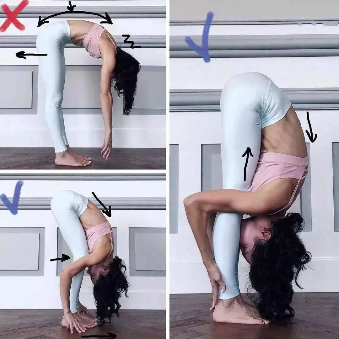 14个最常做错的瑜伽体式正误对比图,你做对了几个? 初级健身 第11张