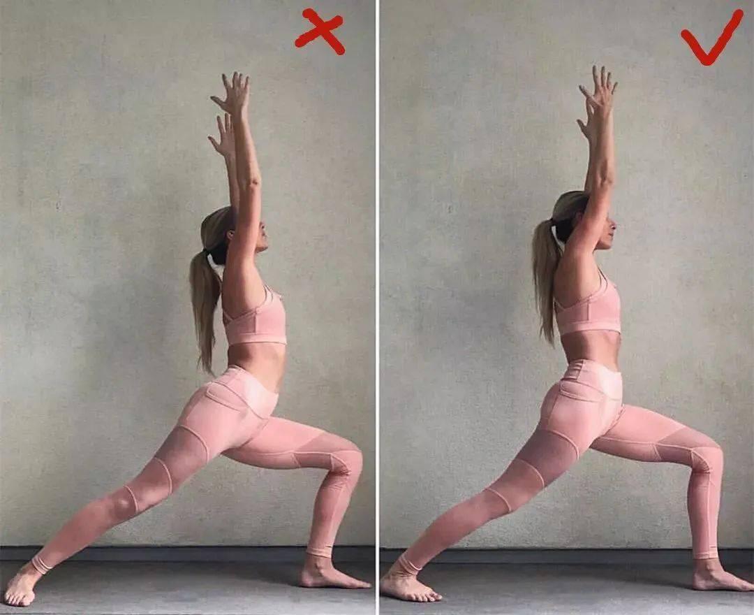 14个最常做错的瑜伽体式正误对比图,你做对了几个? 初级健身 第7张