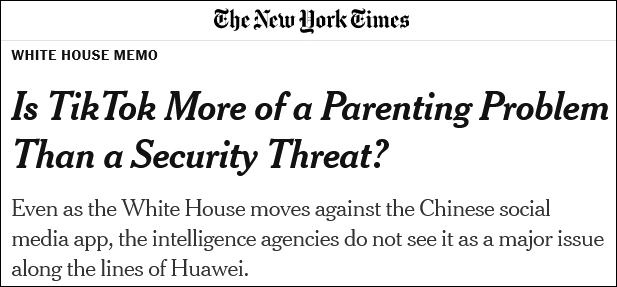 美国中央情报局表示,没有证据显示中国政府获取了抖音数据
