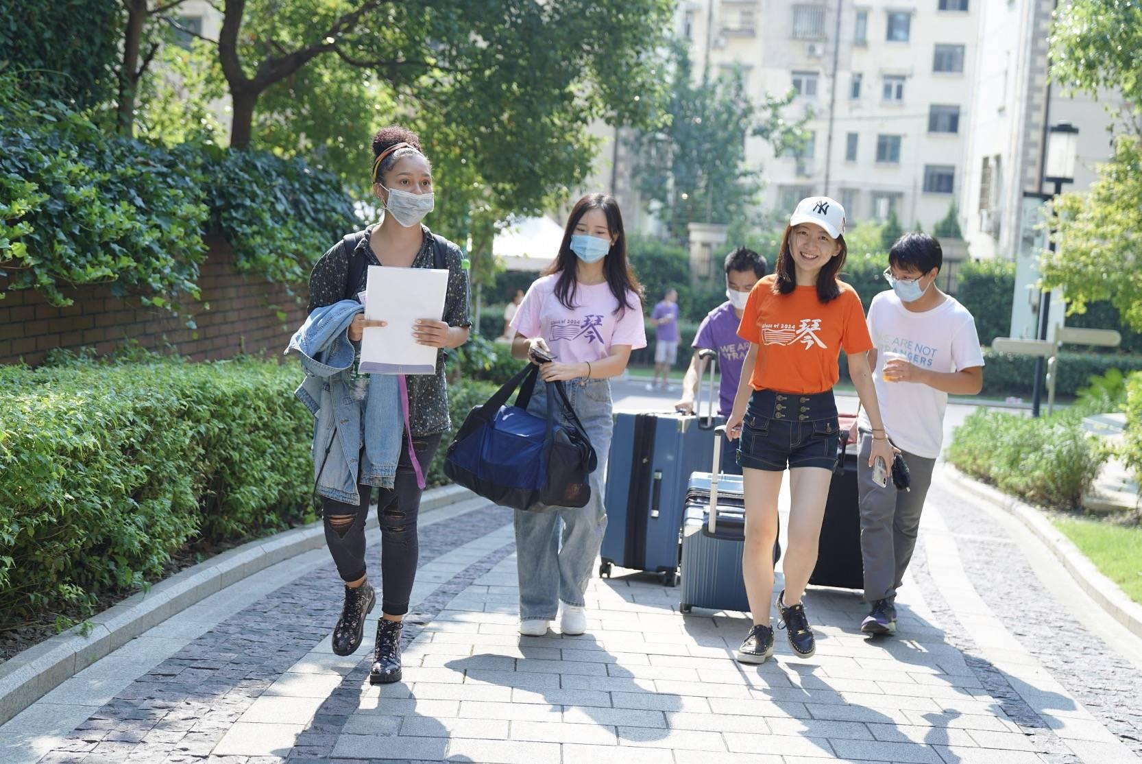 来自38个国家的500名新生,上海,纽约大