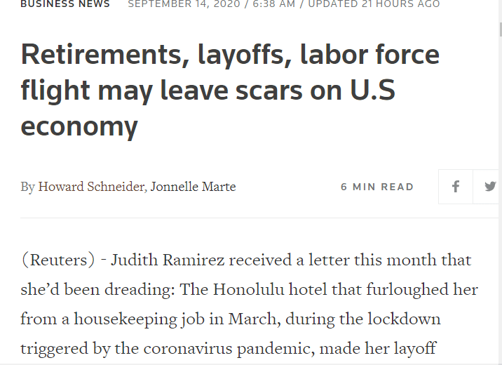 """北美观察丨疫情下的美国:休假、退休可能都是骗人的 失业者又要被""""断供""""了"""