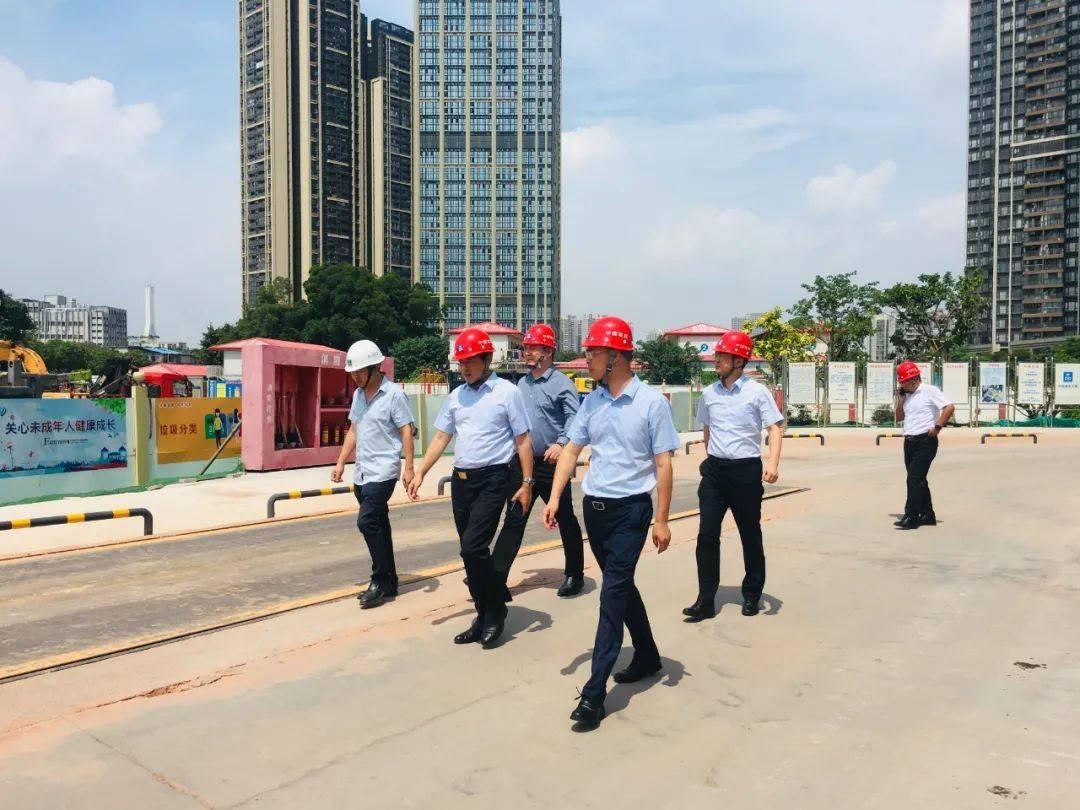 黎俊杰一行前往广东分公司总部和项目部调研指