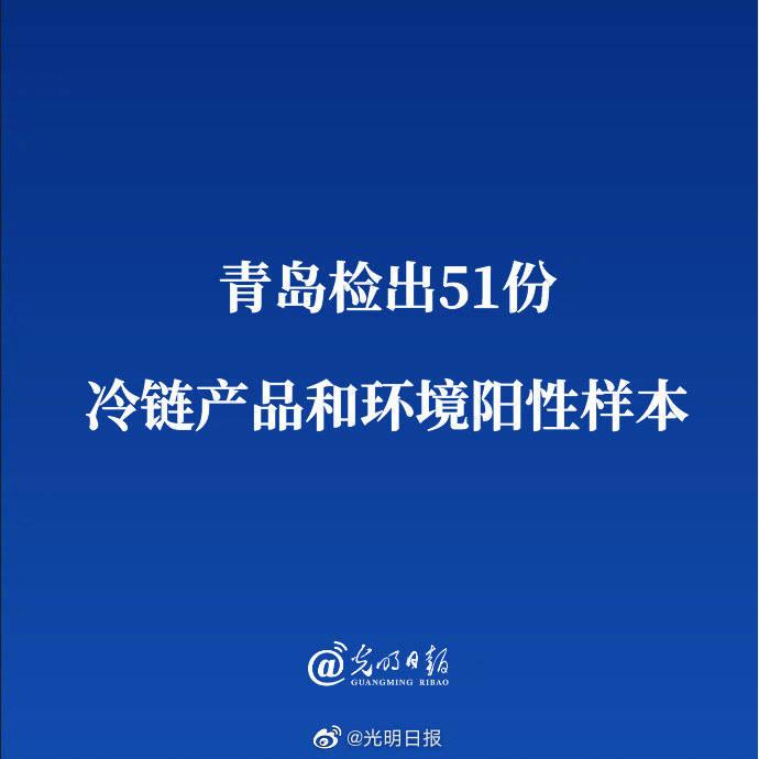 青岛检出51份冷链产品和环境阳性样本_
