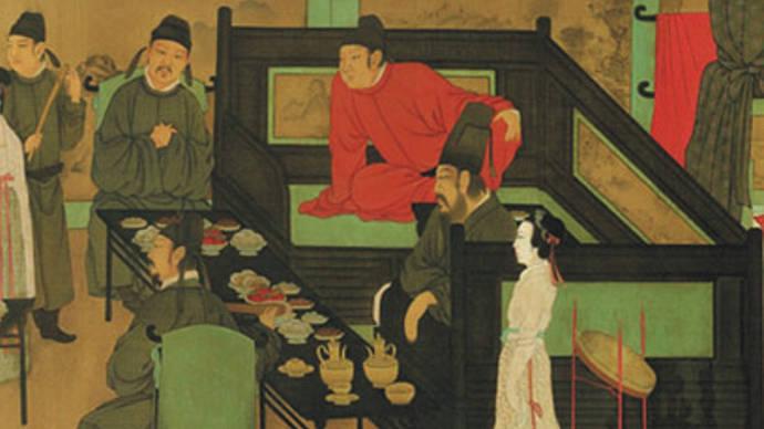韩熙载在夜宴上为什么不开心?