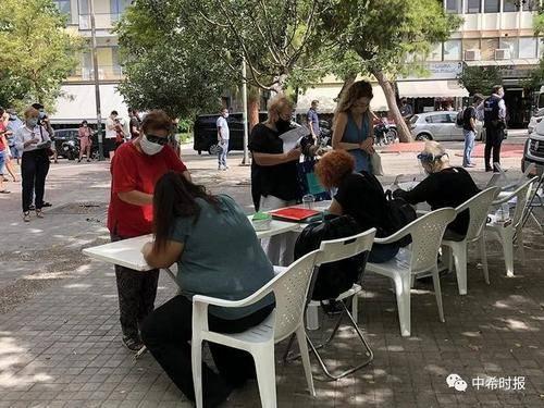 希腊政府在雅典华人区提供免费检测新冠病毒服务...