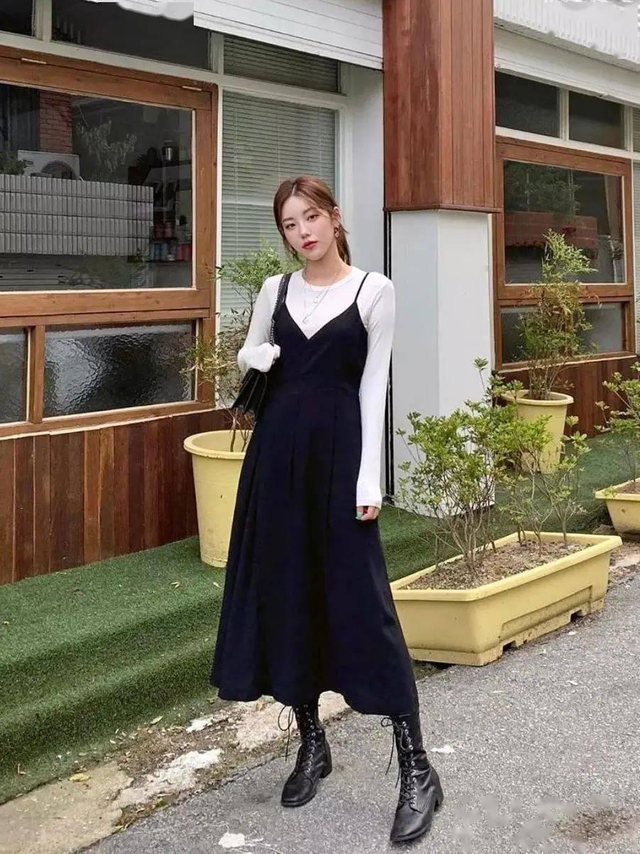 马丁靴+裙子,马丁靴+工装裤……又酷又撩,时髦炸了!     第15张