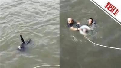 山西太原 两人跳河救落水女子 市民们奋