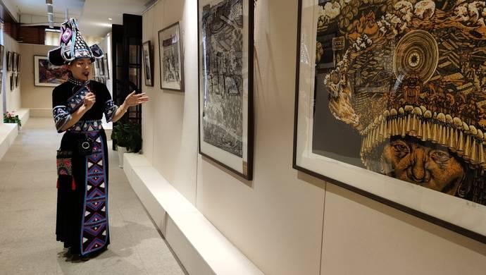 马关壮族农民版画现身上海,曾被选定为国礼赠与意大利