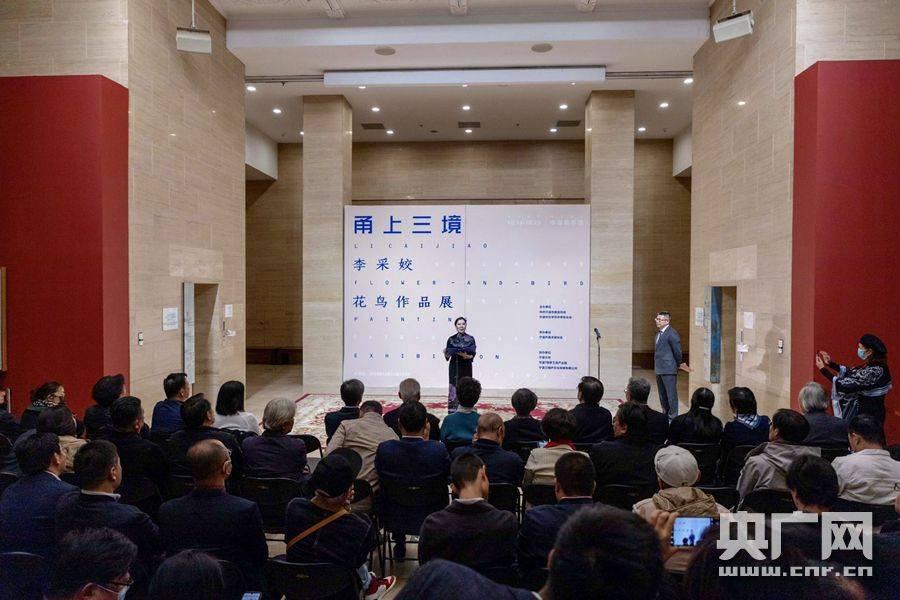 中国美术馆今年首次个展开展 宁波画家59幅花鸟作品亮相