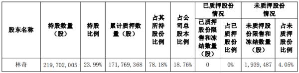 <strong>优酷网络控股股东林奇累计质押1.72亿股,占其股份78%。 手游网</strong>
