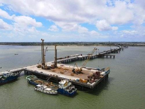 湛江环城高速南三岛大桥主桥桩基完成施工