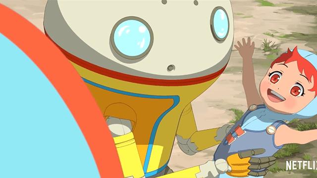 网飞原创电视动画「EDEN」机器人遇到人类小女孩后产生的一连串故事